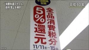 3%から5%に増税となった時の還元セール