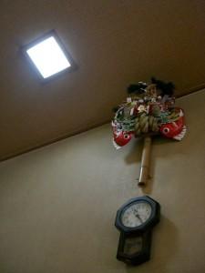 熊手と掛時計
