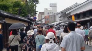 来場者で賑わう旧東海道