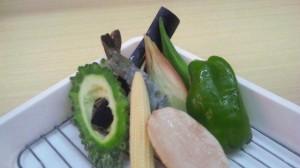 夏天定食&夏天丼の材料(日により変動します)