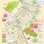 緑区西部地域のマップ
