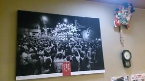 店内の壁に飾ってあります