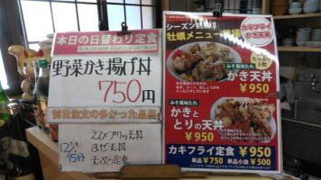 日替わり定食は野菜かき揚げ丼