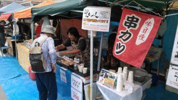鳴海ここよい祭り 当店ブース付近の様子