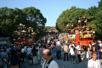 名古屋市指定無形民俗文化財に指定された鳴海祭(裏方)と山車
