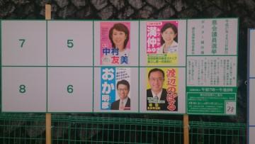 愛知県議会議員選挙 緑区立候補者ポスター
