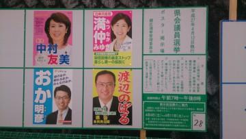 愛知県議会議員選挙 緑区立候補者ポスター(拡大)